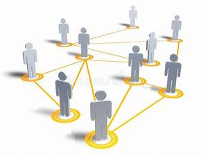 People Map With Connection Stock Illustration  Image Of