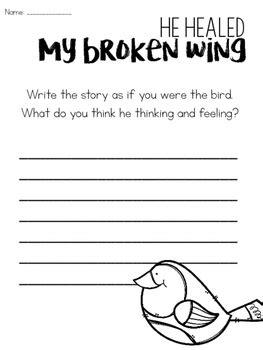 heal  broken wing close reading activities  sarah gardner