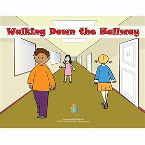 Walking Down the Hallway Social Story Curriculum