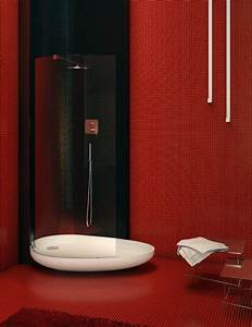 Black white and red bathroom decorating ideas 2017 for Black and red bathroom ideas