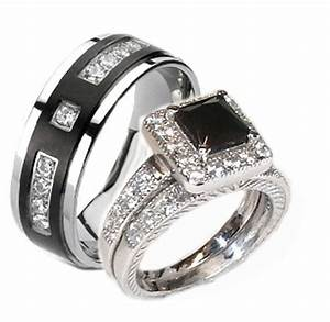 Silver Wedding Ring Sets For His And Her