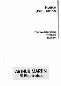 Four Arthur Martin : mode d 39 emploi four arthur martin fe2519n1 trouver une solution un probl me arthur martin ~ Medecine-chirurgie-esthetiques.com Avis de Voitures