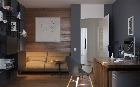 Study Of Interior Design - 5 ideas for a one bedroom apartment with study includes