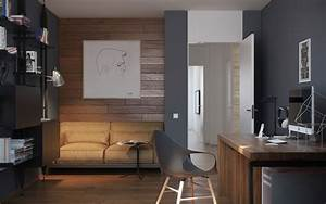 5 ideas for a one bedroom apartment with study includes With home office study design ideas