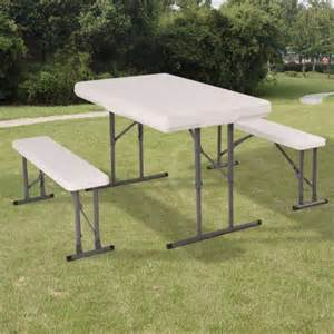 costway table and benches set chair seat folding picnic