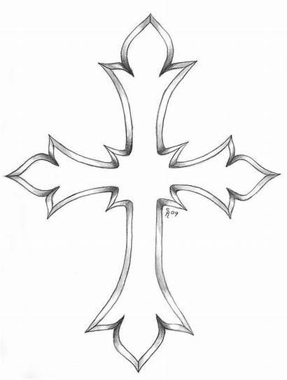 Cross Tattoo Designs Outline Tattoos Gothic Crosses