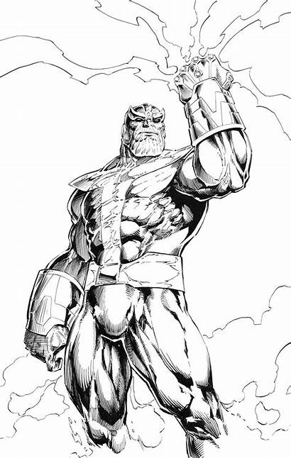 Thanos Coloring Pages Avengers Para Marvel Cool
