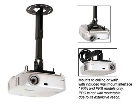 Ceiling Projector Mount With Adjustable Extension by Pro Ceiling Wall Projector Mount With Adjustable Extension