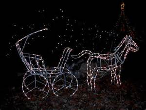 large lighted christmas horse carriage yard sculpture ebay