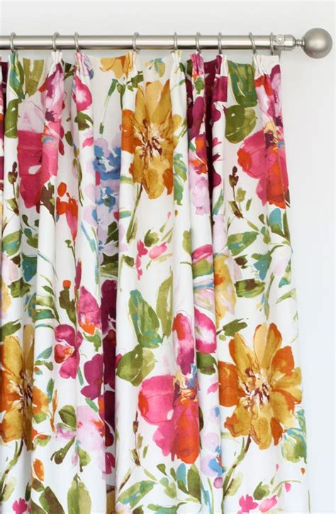 go cool with these floral curtains home and textiles