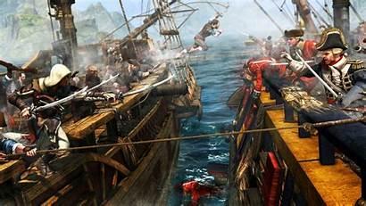 Pirate Flag Desktop Ship Fighting Wallpapers Battle
