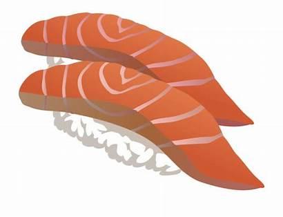 Sushi Salmon Clip Sashimi Japanese Clipart Transparent