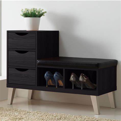 shoe rack bench wooden bench with shoe storage derektime design