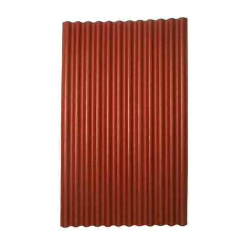 metal ceiling tile shop ondura 4 ft x 6 58 ft corrugated cellulose fiber