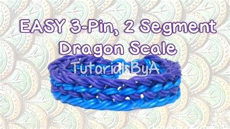 easy  pin  segment dragon scale rainbow loom bracelet