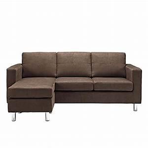 dorel living small spaces configurable sectional sofa With small spaces sectional sofa chocolate microfiber
