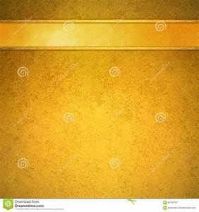 Gold Background With Gold Ribbon And Trim Header Stock ...