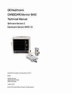 Ge Carescape B450 Technical Manual 2012  U2013 Golden Biomed