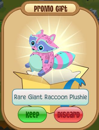 rare giant raccoon plushie animal jam wiki fandom