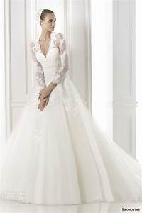 Pronovias 2015 pre collection wedding dresses glamour for Long sleeve wedding dresses 2015