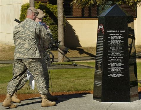2nd ranger battalion memorial memorial pays tribute to fallen rangers article the united states army