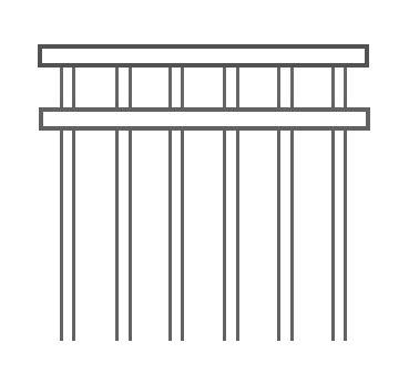 Double top rail - Fencescape Fencing