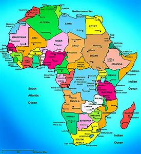 africa political map countries and capital cities | AFRICA ...