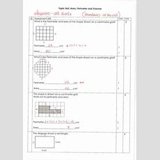 Area Perimeter Volume Topic Tests Level 27 By Japleen Kaur  Teaching Resources Tes