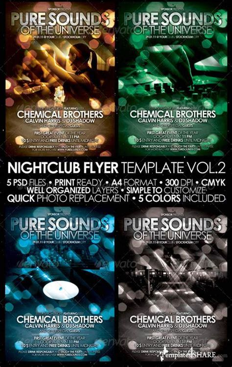 Electro Flyer Poster Template Vol 4 Torrent by Graphicriver Nightclub Flyer Poster Template Vol 2