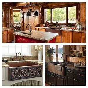 La cuisine amenagee avec evier en cuivre une bonne idee for Idee deco cuisine avec cuisine Équipée et aménagée