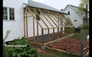 Homemade Lean to Greenhouse