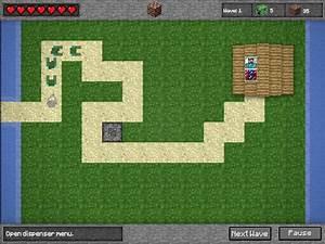 Play Minecraft Tower Defense Hacked Minecraft Tower