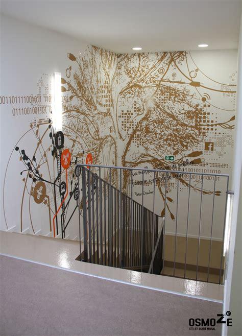 idee deco mur escalier