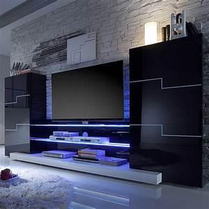 Designer Lowboard Weiß Hochglanz : wohnwand schwarz wei hochglanz schrankwand tv lowboard vitirne wohnzimmer neu ebay ~ Bigdaddyawards.com Haus und Dekorationen