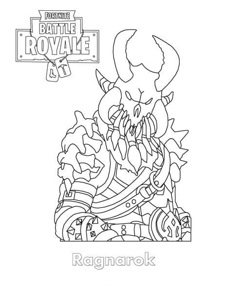 Fortnite Dier Free Colouring Pages