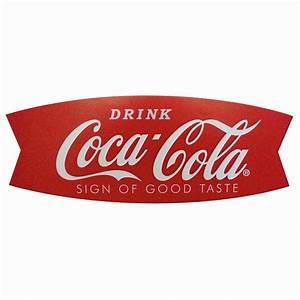 Coca-Cola Fishtail Design Wood Sign Sunbelt Gifts Wholesale