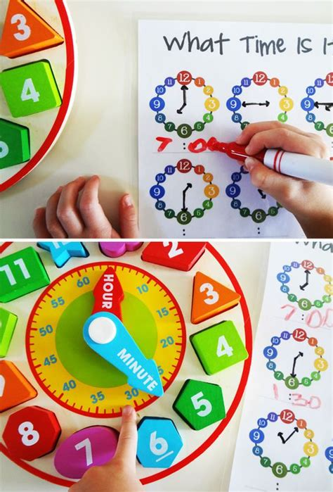 learning time preschool learn how to tell time activities printable math 967