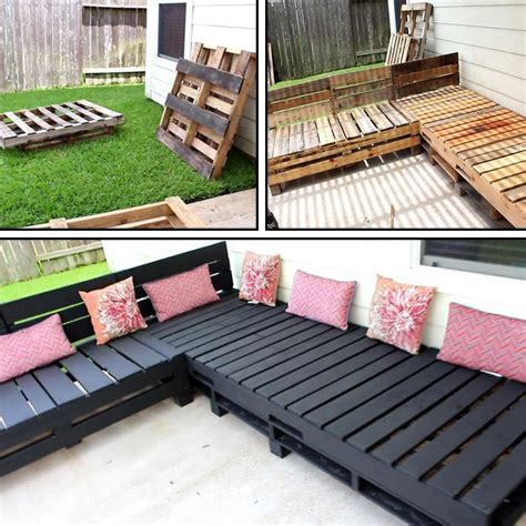pallet furniture diy patio sectional angela east