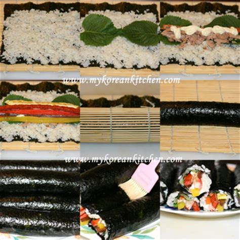 how to make kimbap tuna kimbap chamchi kimbap my korean kitchen