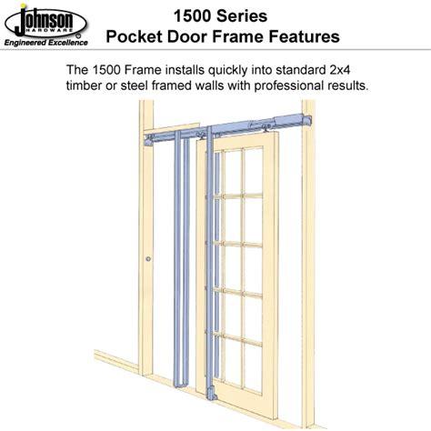 johnson pocket door johnson hardware 1500sc soft pocket door frame