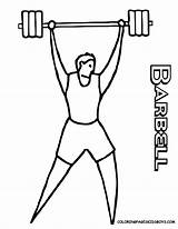 Coloring Colouring Printables Weights Sport Lifting Cartoon Drawing Cliparts Athletes Weight Barbell Boys Lifter Barney Weightlifter Bodybuilder Nurse Library Clipart sketch template