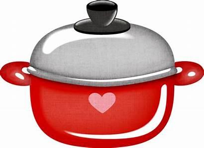 Kitchen Country Clipart Cocina Retro Clip Utensilios