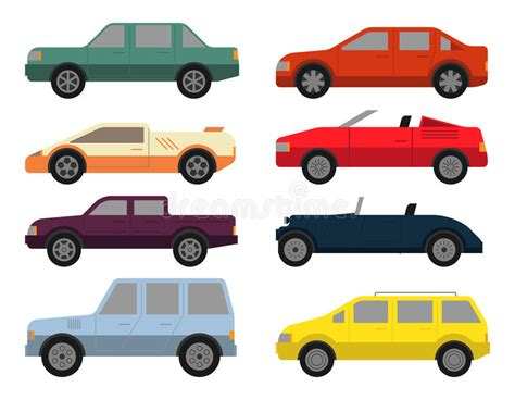 Cars Icon Set Stock Vector. Illustration Of Different