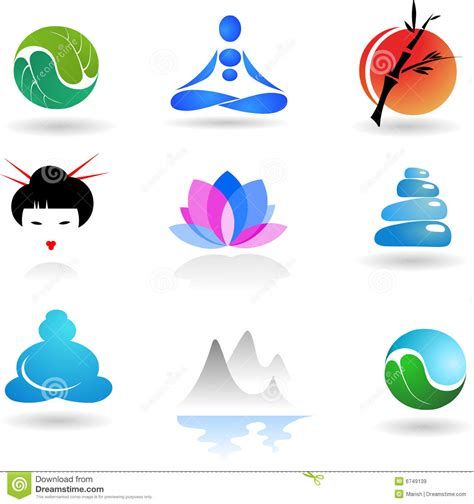 zen collection illustration icons vector royalty dreamstime