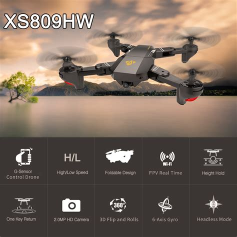 visuo rc drone xshw rtf ghz wifi fpv brushless motor drone  camera mp p wide