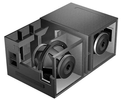 sub box design isobaric subwoofer design vue audiotechnik
