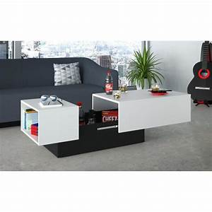 Style Contemporain : soda table basse style contemporain blanc l 116 150 x l 51 ~ Farleysfitness.com Idées de Décoration