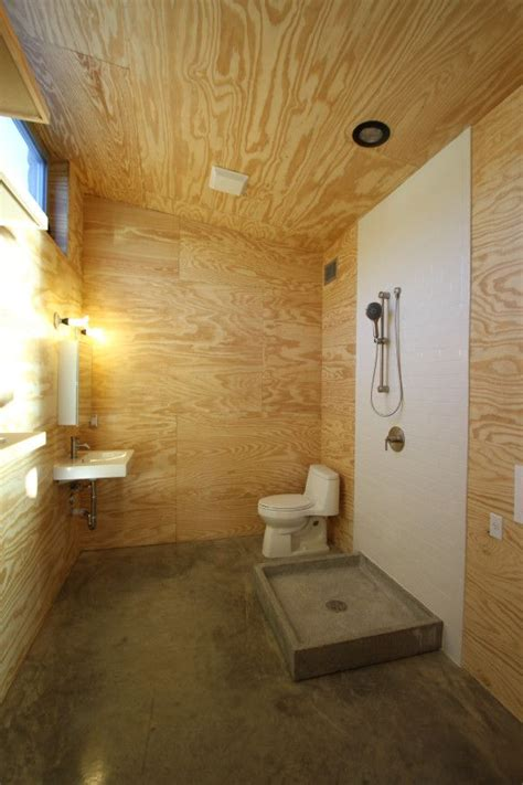 plywood bathroom replace     wall hung toilet