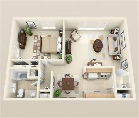 appartement 1 chambre 50 plans en 3d d appartement avec 1 chambres