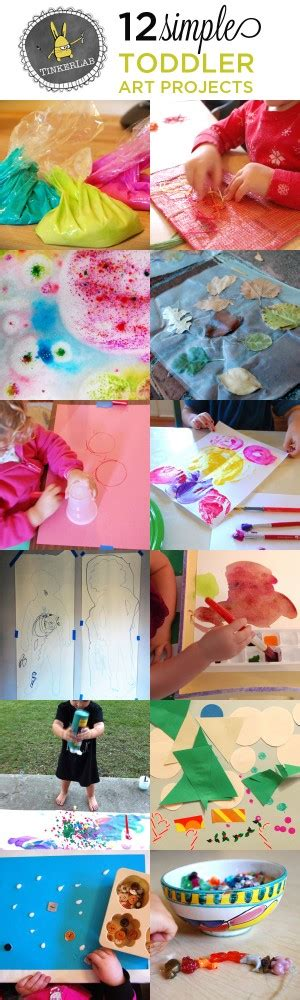 12 projects for toddlers tinkerlab 945 | 12 Simple toddler art projects